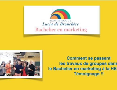 Bachelier en Marketing : les travaux de groupes